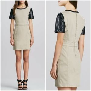 Marc By Marc Jacobs Dempsey Leather Sleeve Dress 4